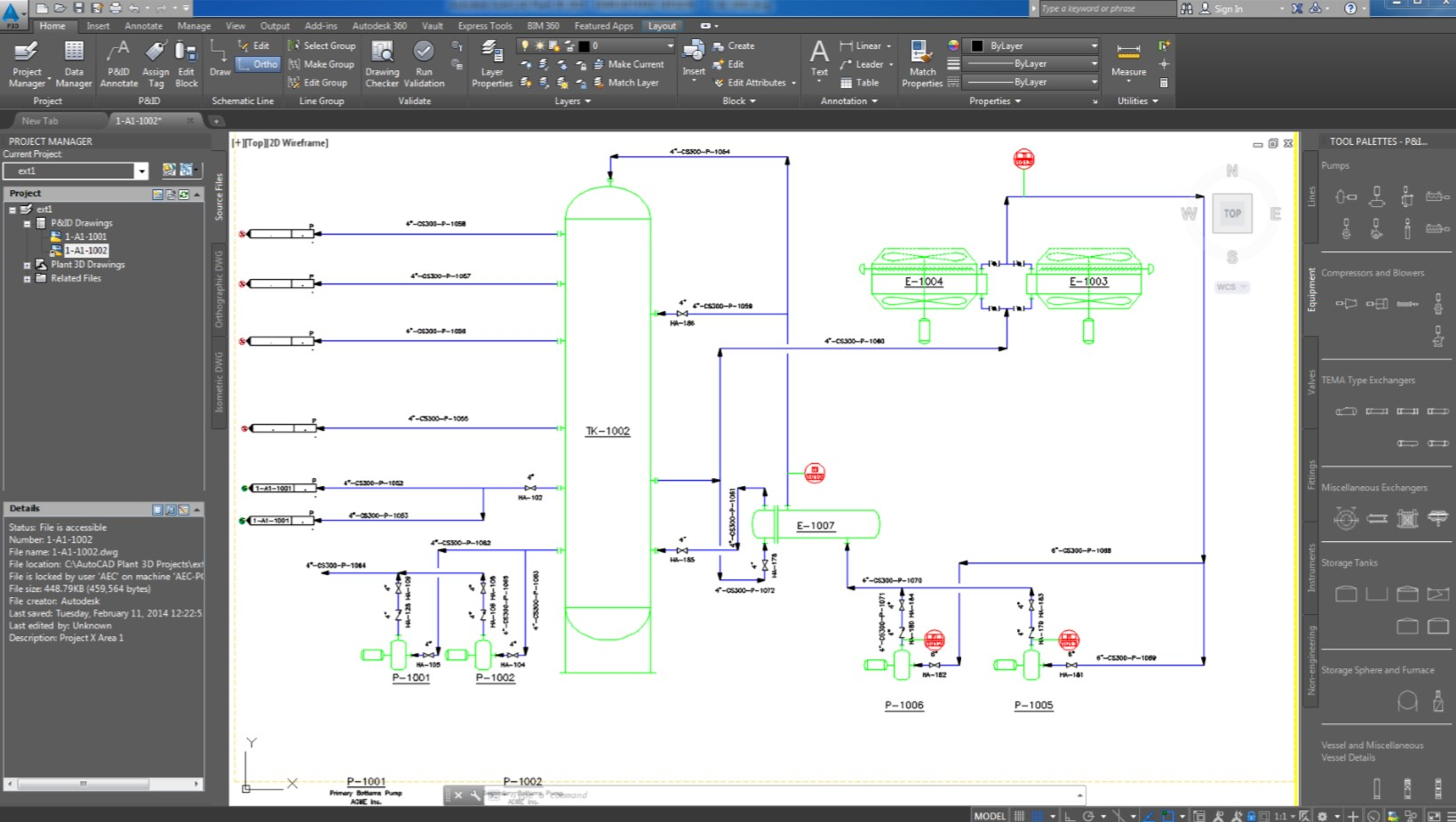 AutoCAD P&ID Function