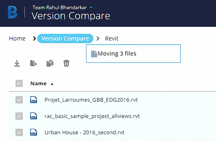 Compare Version BIM 360 Team
