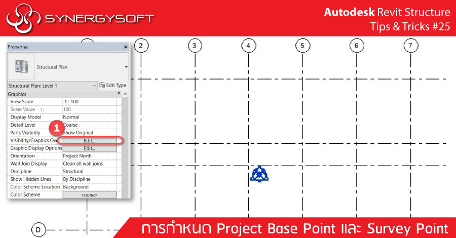 Autodesk Revit Structure Tip & Trick #25 Project Base Point and Survey Point